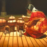 Woman Cooking by Ilayaraja